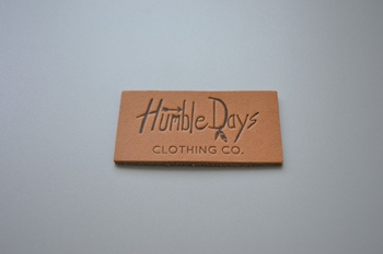 Humble Days leather label P001541