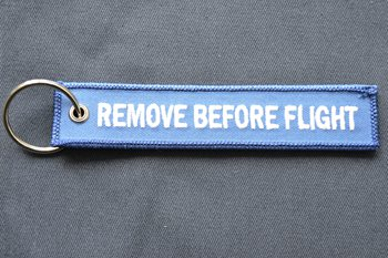 REMOVE BEFORE FLIGHT embroidered patch P003225