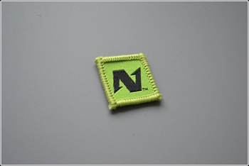 N woven patch P000305