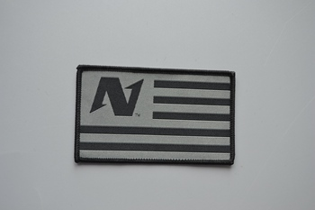 N woven patch P000316