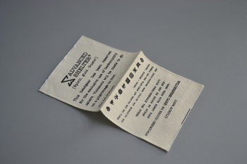 ADVANCE printed label P000612