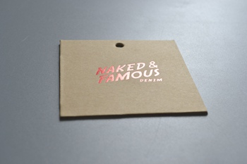 NAKED&FAMOUS hang tag P000633