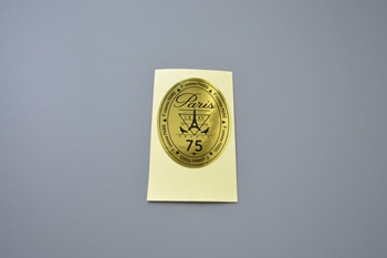 Paris gold sticker P001834