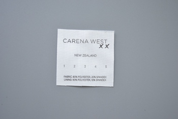 CARENA WEST printed label P001873