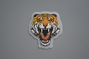 Tiger 3D silicone label P002376
