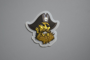Pirate 3D silicone label for clothing