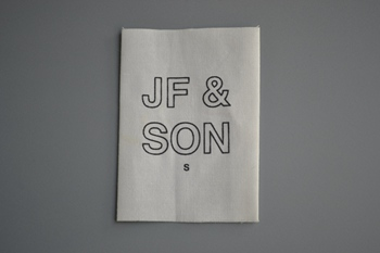 JF&SON printed label P003515
