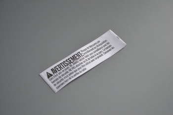 AVERTISSEMENT printed label P003525