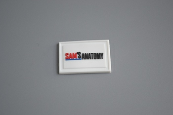 SAM'S ANATOMY PVC label P001706