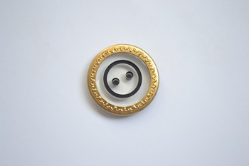golden edge button P003609