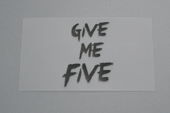 Clear clothing labels-Give me five-P003564