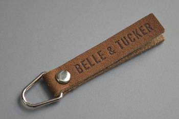 Belle tucker leather zipper puller-P003129
