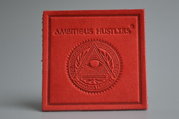 Ambitious hustlers leather labels-P003300
