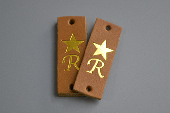 R leather labels-P003606