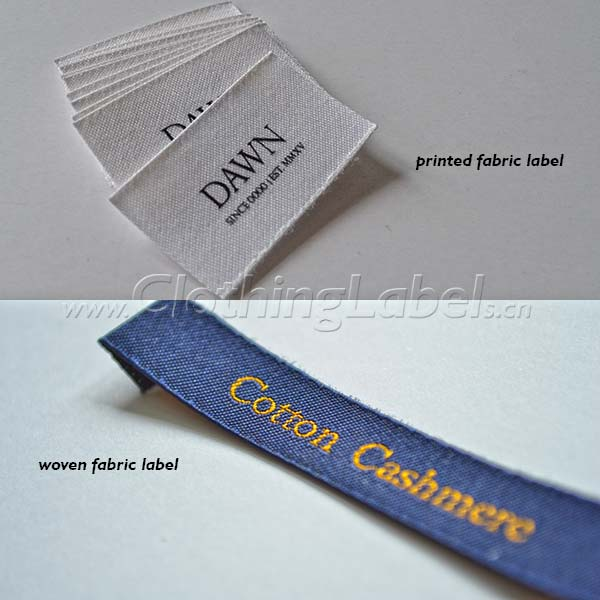 printed fabric labels and woven fabric labels
