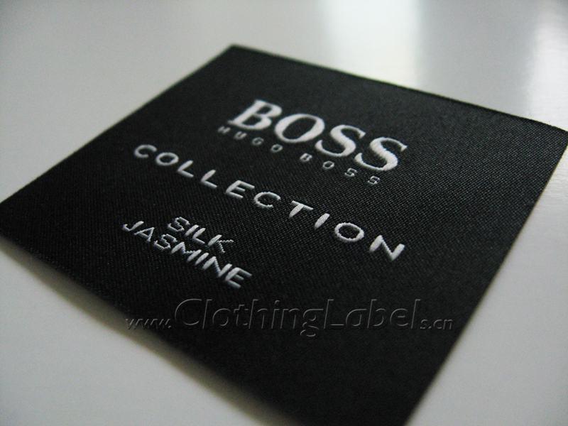 hugo boss clothing labels woven label. Black Bedroom Furniture Sets. Home Design Ideas