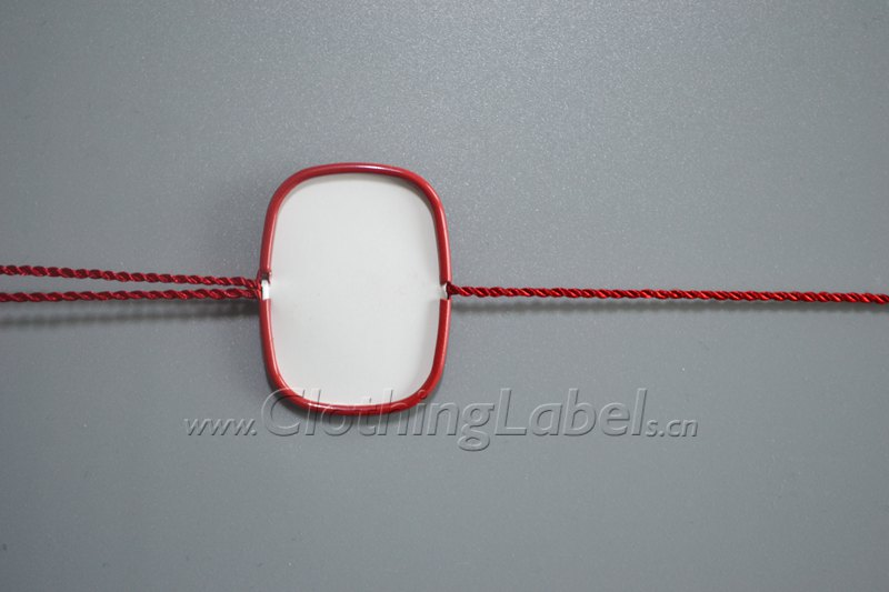 Rectangle hang tag string without logo p000968