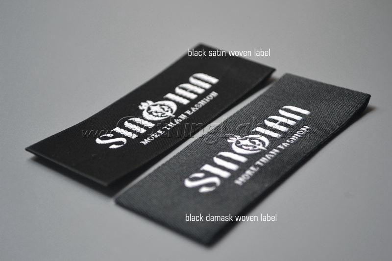 satin damask woven label