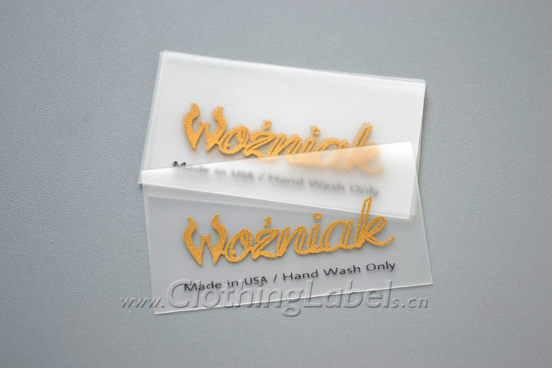 Clear clothing labels