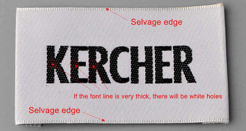 Selvage woven label