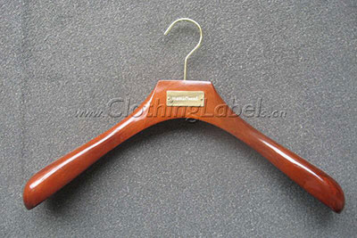 Custom coat hangers for retail store