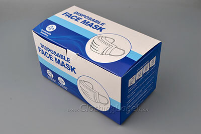 Face mask boxes for packaging