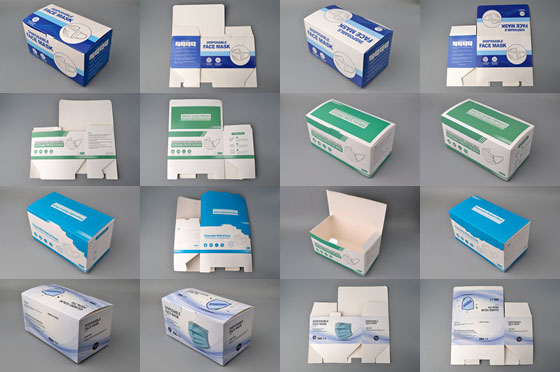 image of face mask boxes