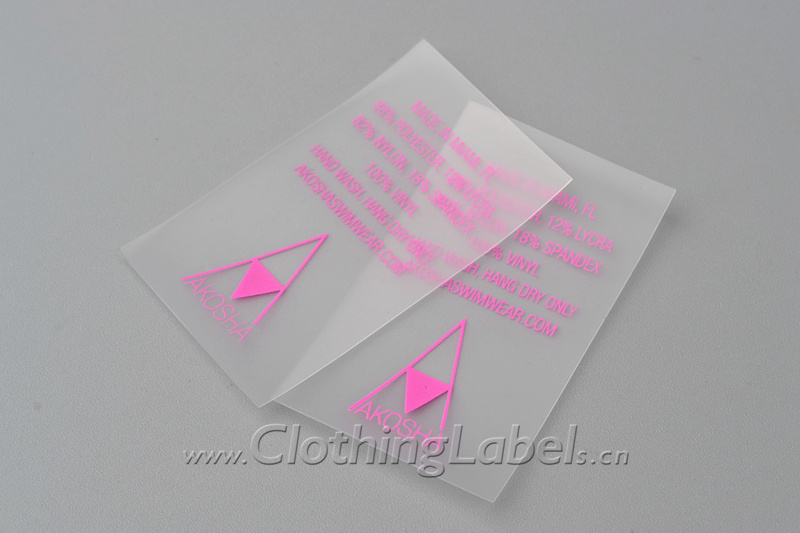 8 clear clothing labels 331