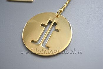Metal material hang tags