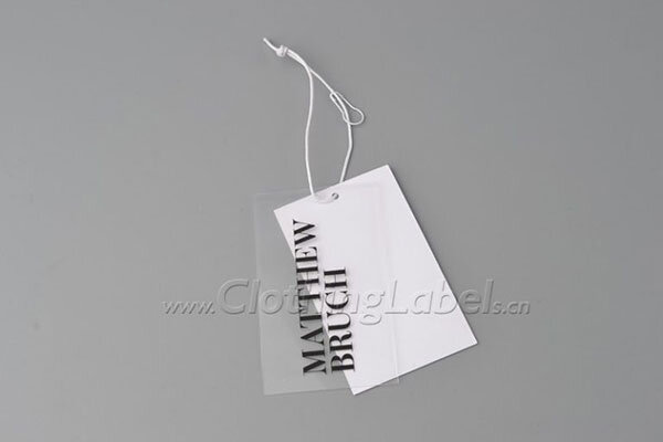 PVC hang tags with paper tags