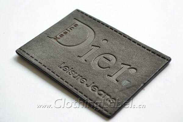 jeans leather labels