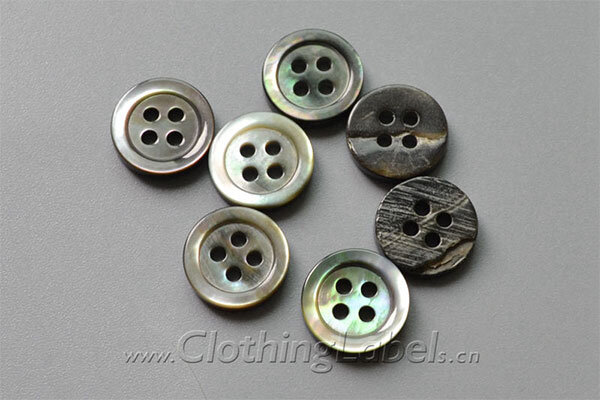 black plate shell buttons