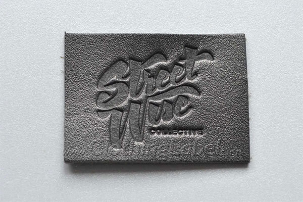 embossing leather labels