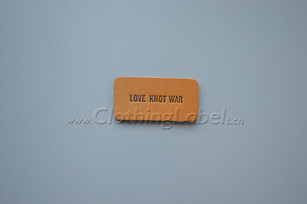love knot war leather label P001760