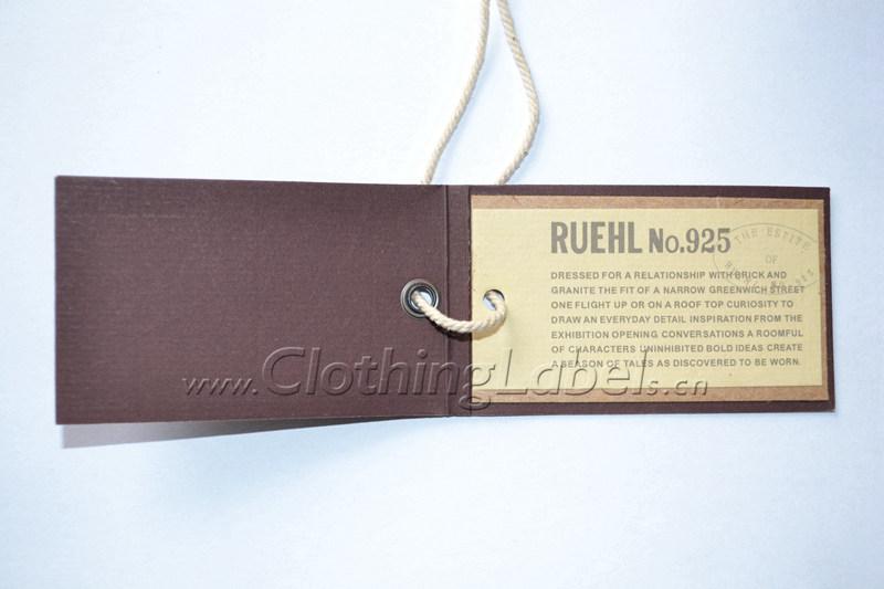 Custom folded hang tags for sale