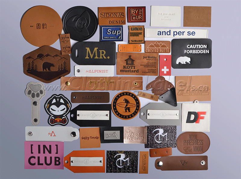 Custom leather patches & labels products