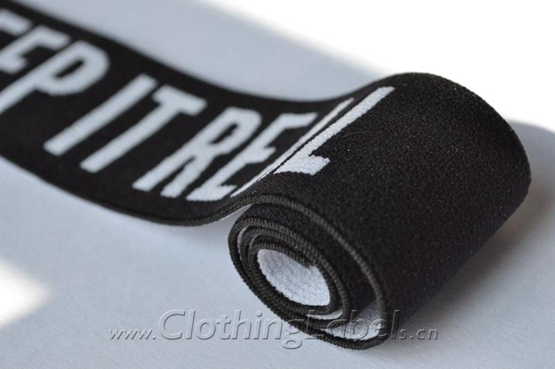 black elastic fabric wristband