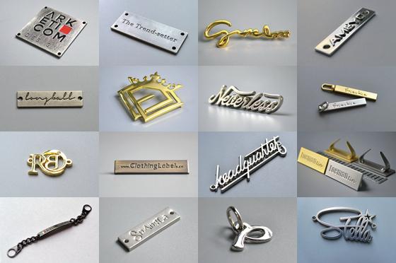 Image of metal labels
