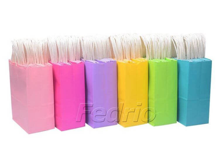 colored kraft paper pouch with handles 02